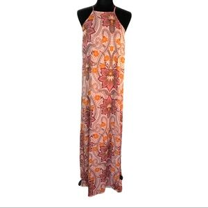 Gianni Bini Halter Maxi with Dual High Side Slits